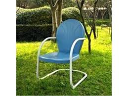 crosley furniture griffith metal chair bl in sky blue finish