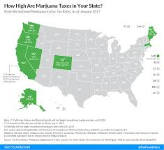 Where Is Washington On A Map by How High Are Marijuana Taxes In Your State Tax Foundation