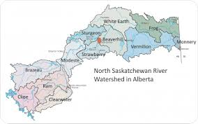Canada On Map by 12 Subwatersheds North Saskatchewan Watershed Alliance