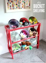 Baskets For Bookshelves Ana White Diy Bucket Or Basket Shelf Display Stand Diy Projects