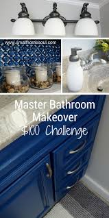 master bathroom makeover reveal on a 100 budget small home soul