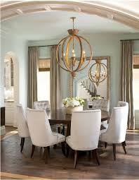 Classic And Elegant Chandelier Tufted Chairs Round Dining - Dining rooms chairs