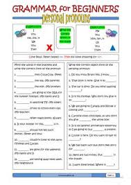 35 free esl personal pronouns worksheets for upper intermediate