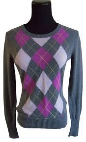 merona sweater merona grey pink purple sweater pullover size 2 xs tradesy