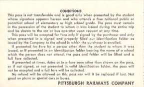 transportation ticket thanksgiving pittsburgh railway company