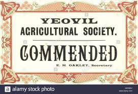 art deco design for prize card awarded at yeovil agricultural