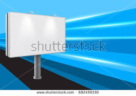 3d billboard template clear banner your stock vector 613177352