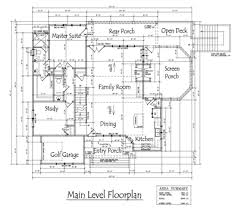 Level Floor 3 Story Open Mountain House Floor Plan Asheville Mountain House
