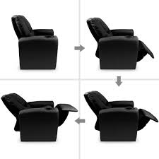 Black Leather Recliner Chair Kids Padded Leather Recliner Chair Black Furniture Wizard