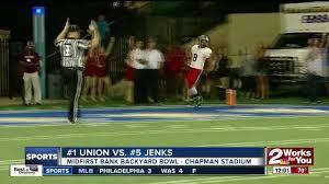 union pulls away from jenks in seond highest scoring backyard bowl