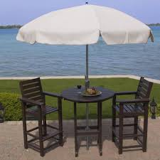Plastic Bar Table Polywood Captain 5 Pc Recycled Plastic Bar Height Dining Set