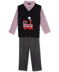 3 pc sweater vest shirt set baby boys 0 24