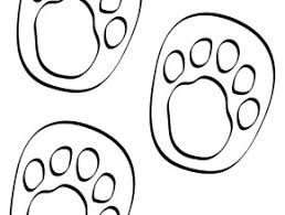 printable footprints clipart best dinosaur footprint coloring page