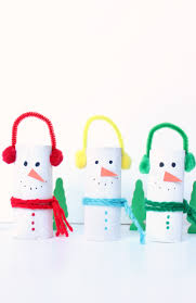 cardboard tube snowman craft make and takes