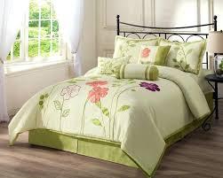 Green Bed Sets Floral Bedding Sets Architecture Size Floral Comforter Sets