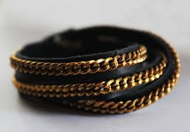 chain bracelet with leather images Diy chain and leather wrap bracelet jpg