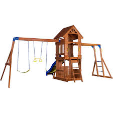 backyard discovery parkway wooden swing set box 1 of 2 walmart com
