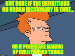 Memes Urban Dictionary - not sure if the definitions on urban dictionary is true or if