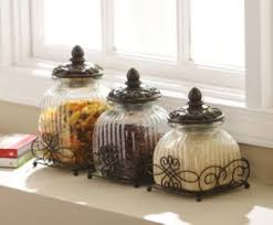 loop glass canister set of 3 glass canisters canister sets and