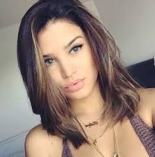 long bob hairstyles brunette summer 21 cute lob haircuts for this summer chocolate highlights long
