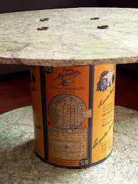 table basse touret bois table basse bobine fil electrique u2013 phaichi com