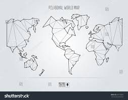World Map Us by Polygonal Abstract World Map Usa Center Stock Vector 657150697