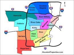 Map Of Houston Area Houston Neighborhood Map