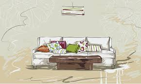 hand drawn furniture home vector set 11 vector life free download