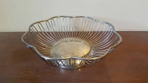 vintage wire metal bowl wire metal fruit bowl mid century
