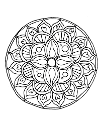 free printable mandalas for kids within easy mandala coloring