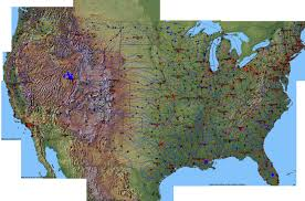 Map Of United States With Interstates by United States Topo Map Topographic Map Of Usa