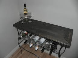 wine rack side table wood wine rack table modern 0 wine bar and rack 150 year plus old