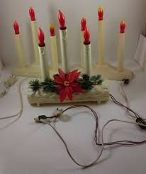 3 candle electric light vintage 3 candle plastic window candolier christmas decoration