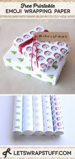 diy gift wrapping ideas free printable emoji wrapping paper 5