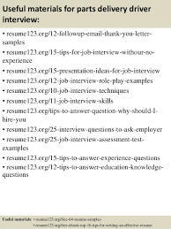 Delivery Driver Resume Example Student Guide To Writing College Papers Download Best Assignment