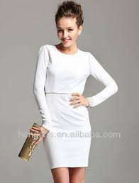 uk long sleeve white backless women midi bodycon dress knee