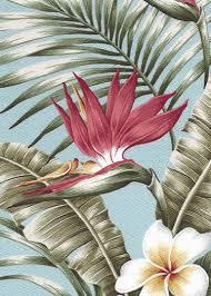 Vintage Drapery Fabric Maunawili Vintage Style Tropical Botanical Vintage Hawaiian
