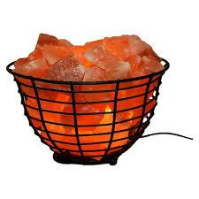 himalayan salt l basket accentuations by manhattan comfort himalayan wired basket l