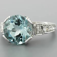 antique aquamarine ring antique aquamarine engagement ring - Antique Aquamarine Engagement Rings