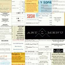 art of the menu an online showcase of creative menu designs