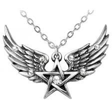 the mystical pentagram symbol with wings magical jewelry wicca