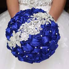 wedding flowers blue and white discount wedding bouquets royal blue white 2017 wedding bouquets