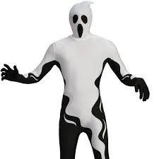 mens floating ghost zentai costume