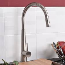 delilah brushed steel kitchen sink mixer tap with pull ibath