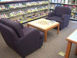 comfy library chairs koelbel library teen space oh chess table middle school