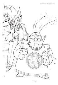 dragon ball color cartoon color pages printable cartoon