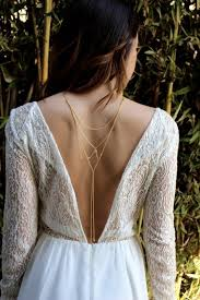 Draped Body Chain Geometric Chain Back Necklace Bridal Jewellery All About