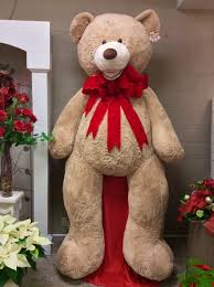 big teddy 10 foot teddy with velvet bow centerville florists
