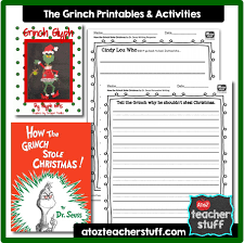 how the grinch stole lesson plans printables and
