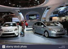 hybrid cars toyota prius electric hybrid car cars showroom stock photo
